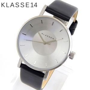 Klasse14 クラスフォーティーン VO14SR001W Volare ヴォラーレ アナログ レディース 腕時計 海外モデル 黒 ブラック 銀 シルバー 革ベルト レザー|tokeiten