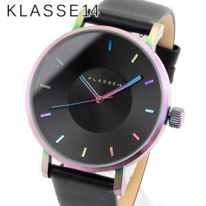 Klasse14 クラスフォーティーン VO15TI001M Volare ヴォラーレ アナログ メンズ レディース 腕時計 海外モデル 黒 ブラック レインボー 42mm レザー|tokeiten