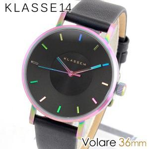 Klasse14 クラス14 KLASSE14 VO15TI001W 海外モデル Volare アナログ レディース 腕時計 ウォッチ 黒 ブラック レインボー メタル バンド 36mm|tokeiten