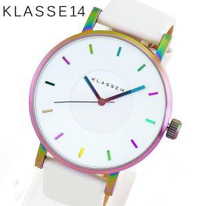 Klasse14 クラスフォーティーン VO16TI003M Volare ヴォラーレ アナログ メンズ レディース 腕時計海外モデル 白 ホワイト レインボー 42mm 革ベルト レザー|tokeiten