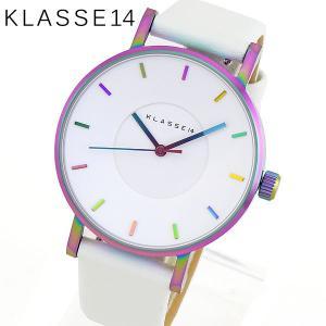 Klasse14 クラスフォーティーン VO16TI003W Volare ヴォラーレ アナログ レディース 腕時計 海外モデル 白 ホワイト レインボー 36mm 革ベルト レザー|tokeiten