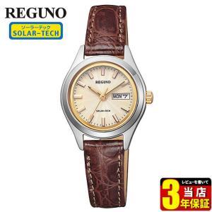 22日から最大42倍 シチズン レグノ ソーラーテック KM2-012-90 CITIZEN REGUNO 国内正規品 腕時計 レディース ソーラー 金 ゴールド 革ベルト レザー|tokeiten