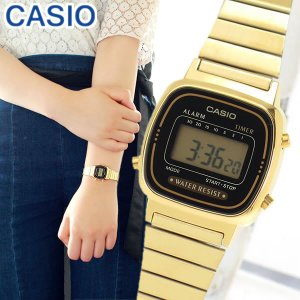 メール便で送料無料 BOXなし CASIO チープカシオ チプカシ LA-670WGA-1 LA670WGA-1 海外モデル レディース 腕時計 ゴールド×ブラック 金 黒|tokeiten