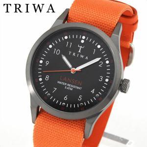 TRIWA トリワ メンズ レディース 腕時計 男女兼用 ユニセックス LANSEN ランセン オレンジ LAST109-MO060512 レザー キャンバス|tokeiten