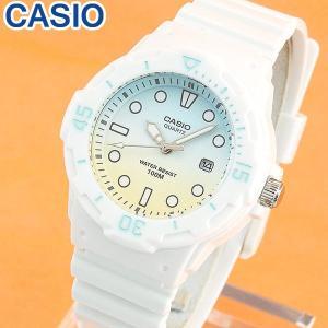 CASIO チープカシオ チプカシ スタンダード LRW-200H-2E2 ホワイト ブルー イエロー レディース 腕時計 海外モデル スモールサイズ|tokeiten