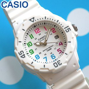 腕時計 CASIO チープカシオ チプカシ レディース 腕時計 デジタル LRW-200H-7B チープカシオ チプカシ ダイバーズ デザイン ホワイト 白 防水|tokeiten
