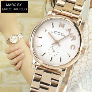 MARC BY MARC JACOBS マークバイマークジェイコブス ピンクゴールド 白 ホワイト ベイカー レディース 腕時計 時計 MBM3248 海外モデル|tokeiten