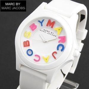 先着8%OFFクーポン MARC BY MARC JACOBS マークバイマークジェイコブス MBM8660 レディース 腕時計 女性用 時計 ホワイト 白 シリコン ピンク ラバー tokeiten