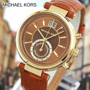 MICHAEL KORS マイケルコース MK2424 海外モデル アナログ レディース 腕時計 ウォッチ 茶 ブラウン 金 ゴールド 革バンド レザー|tokeiten