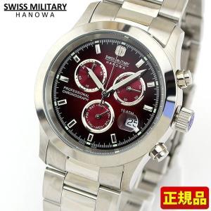 ポイント最大26倍 SWISS MILITARY スイスミリタリー 腕時計 新品 時計 エレガントクロノビッグ ML185 ML-185 ボルドーダイヤル|tokeiten