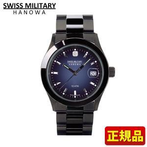 SWISS MILITARY スイスミリタリー エレガントブラック 腕時計 新品 時計 ML-186 ML186 メンズウォッチ 国内正規品|tokeiten