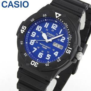 3ヶ月保証 CASIO カシオ チプカシ チープカシオ スタンダード MRW-200H-2B2 海外モデル メンズ 腕時計 黒 ブラック 青 ブルー ウレタン|tokeiten