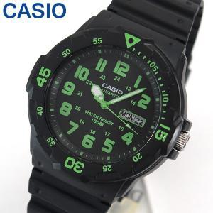専用BOXなし CASIO カシオ スタンダード MRW-200H-3B 海外モデル メンズ 腕時計アナログ ブラック グリーン 緑 黒 チープカシオ チプカシ|tokeiten