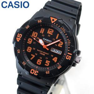 専用BOXなし CASIO チープカシオ チプカシ スタンダード MRW-200H-4B 海外モデル メンズ 腕時計アナログ ブラック オレンジ 黒 チープカシ|tokeiten