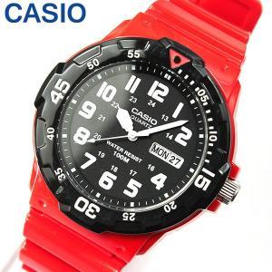 専用BOXなし CASIO チープカシオ チプカシ スタンダード MRW-200HC-4B 海外モデル メンズ 腕時計 時計 レッド ブラック 赤 黒 チー|tokeiten
