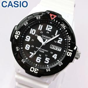 専用BOXなし CASIO チープカシオ チプカシ MRW-200HC-7B 海外モデル メンズ 腕時計 ホワイト ブラック 白 黒 チープカシオ チプカシ ダイバーズ デザイン 防水|tokeiten