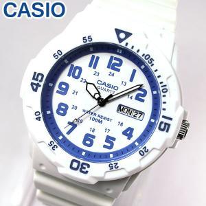 専用BOXなし CASIO チープカシオ チプカシ スタンダード MRW-200HC-7B2 海外モデル メンズ 腕時計 アナログ ホワイト ブルー 白 青 チープカシオ チプカシ