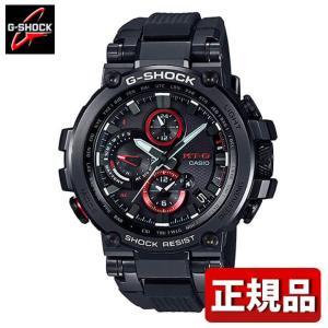 G-SHOCK Gショック CASIO カシオ タフソーラー ソーラー電波 MTG-B1000B-1AJF MT-G アナログ メンズ 腕時計 国内正規品 黒 ブラック 赤 レッド ウレタン|tokeiten