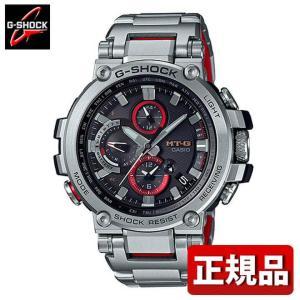 G-SHOCK Gショック CASIO カシオ ソーラー 電波 MTG-B1000D-1AJF MT-G アナログ メンズ 腕時計 国内正規品 黒 ブラック 赤 レッド 銀 シルバー|tokeiten