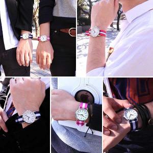 レビューを書いてネコポスで送料無料 CREPHA クレファー メンズ レディース 腕時計 白 青 赤 NATOバンド カジュアル ポイント消費|tokeiten|03