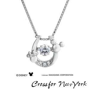 Crossfor Newyork クロスフォーニューヨーク NDP-002 クリスマス限定 Disney ディズニー ミッキー ミニー 馬蹄 ネックレス シルバー ペンダント レディース|tokeiten