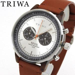 TRIWA トリワ メンズ レディース 腕時計 男女兼用 ユニセックス NEVIL ネヴィル 茶 ブラウン NEAC102-ST010212|tokeiten