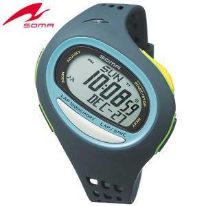 ポイント最大27倍 SEIKO セイコー SOMA ソーマ NS08005 国内正規品 RunONE ランワン デジタル メンズ レディース 腕時計 青 ネイビー オキシブルー ウレタン|tokeiten
