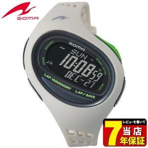 25日から最大31倍 SEIKO セイコー SOMA ソーマ クオーツ NS08008 国内正規品 デジタル メンズ 腕時計 ウォッチ 白 ホワイト 緑 グリーン ウレタン バンド|tokeiten