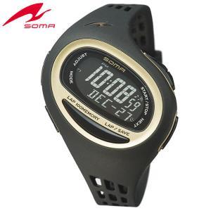 25日から最大31倍 SEIKO セイコー SOMA ソーマ NS09006 国内正規品 RunONE ランワン デジタル メンズ レディース 腕時計 黒 ブラック 金 ゴールド ウレタン|tokeiten