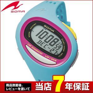 25日から最大31倍 SEIKO セイコー SOMA ソーマ NS09007 国内正規品 RunONE ランワン デジタル メンズ レディース 腕時計 アイスブルー パープル ウレタン|tokeiten