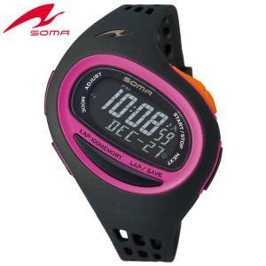 25日から最大31倍 SEIKO セイコー SOMA ソーマ クオーツ NS09008 国内正規品 デジタル レディース 腕時計 ウォッチ 黒 ブラック ピンク ウレタン バンド|tokeiten