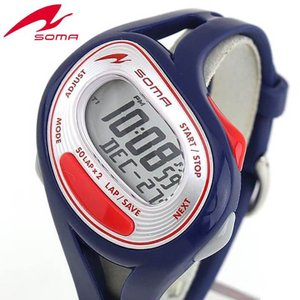25日から最大31倍 レビュー7年保証 SEIKO セイコー SOMA ソーマ NS23003 国内正規品 デジタル メンズ レディース 腕時計 ホワイト ネイビー ウレタン バンド|tokeiten