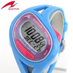 ポイント最大27倍 レビュー7年保証 SEIKO セイコー SOMA ソーマ NS23004 国内正規品 デジタル メンズ レディース 腕時計 ブルー ピンク ウレタン バンド|tokeiten