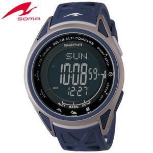 25日から最大31倍 SEIKO セイコー SOMA ソーマ ソーラー NS24702 国内正規品 デジタル メンズ 男性用 腕時計 ネイビー ウレタン バンド|tokeiten