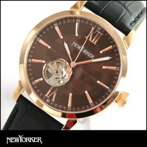 ポイント最大32倍 NEWYORKER ニューヨーカー tradman2 トラッドマン 2 機械式 自動巻き メンズ 腕時計 NY001-09 NY001.09 国内正規品|tokeiten