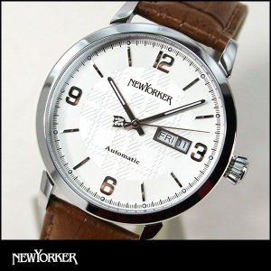 ポイント最大31倍 NEWYORKER ニューヨーカー tradman トラッドマン 機械式 自動巻き メンズ 腕時計 NY002-02 NY002.02 国内正規品|tokeiten