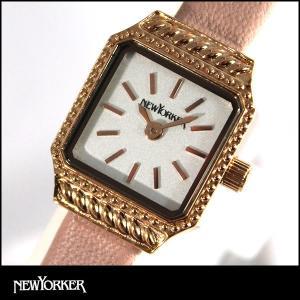 NEWYORKER ニューヨーカー SQUARE-AGE スクエア エイジ レディース 腕時計 時計 ウォッチ NY009-08 NY009.08 国内正規品|tokeiten