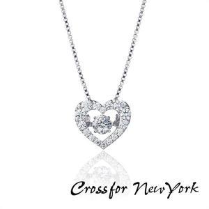 Crossfor New York クロスフォーニューヨーク ダンシングストーン ネックレス ハート ペンダント レディース NYP-540 キュービックジルコニア シルバー925|tokeiten