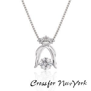 Crossfor New York クロスフォーニューヨーク ダンシングストーン ネックレス ペンダント レディース NYP-578 キュービックジルコニア シルバー925|tokeiten