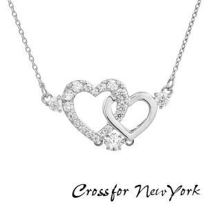 Crossfor New York クロスフォーニューヨーク ダンシングストーン ネックレス ペンダント レディース NYP-598 キュービックジルコニア Pure Heart|tokeiten