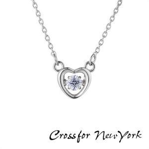 ポイント最大26倍  Crossfor Newyork クロスフォーニューヨーク NYP-616 Coco ダレノガレ明美 ダンシングストーン ネックレス ペンダント レディース シルバー|tokeiten