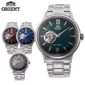 ORIENT オリエント クラシック セミスケルトン 機械式 メカニカル 自動巻き メンズ 腕時計 国内正規品 ネイビー グリーン シルバー|tokeiten
