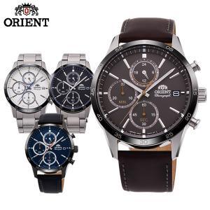 コンテンポラリー マッスルサイドクロノグラフ ORIENT オリエント メンズ 腕時計 国内正規品 ネイビー ブラック シルバー|tokeiten