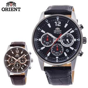 ORIENT オリエント サイドクロノグラフ メンズ 腕時計 国内正規品 黒 ブラック ブラウン 銀 シルバー|tokeiten