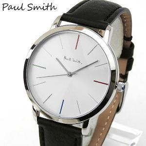 ポールスミス PAULSMITH メンズ 腕時計 時計 ウォッチ 黒 ブラック 銀 シルバー 革バンド レザー ベルト アナログ カジュアル ビジネス スーツ p10051 tokeiten
