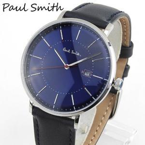 PAULSMITH ポールスミス アナログ メンズ 腕時計 時計 ウォッチ 青 ブルー 青 ネイビー 革バンド レザー ベルト ビジネス スーツ P10080|tokeiten