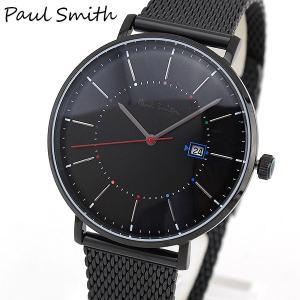 Paul Smith ポールスミス Track トラック メンズ 腕時計 時計 ウォッチ 黒 ブラック ステンレス メッシュ メタル バンド ベルト アナログ P10087|tokeiten