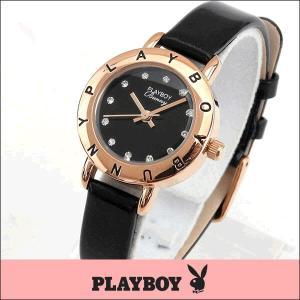 プレイボーイ・バニー PLAYBOY BUNNY PB006PBK アナログ レディース 腕時計 ウォッチ 黒 ブラック 金 ピンクゴールド|tokeiten