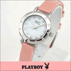 プレイボーイ・バニー PLAYBOY BUNNY PB006SPK アナログ レディース 腕時計 ウォッチ 白 ホワイト ピンク 銀 シルバー|tokeiten