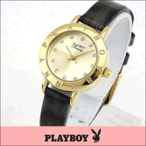 プレイボーイ・バニー PLAYBOY BUNNY PB006YCH アナログ レディース 腕時計 ウォッチ 金 ゴールド|tokeiten